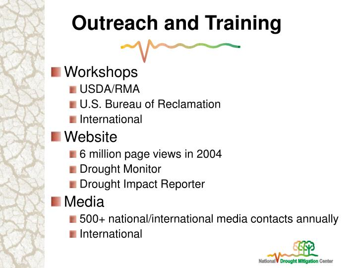 Outreach and Training