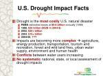 u s drought impact facts