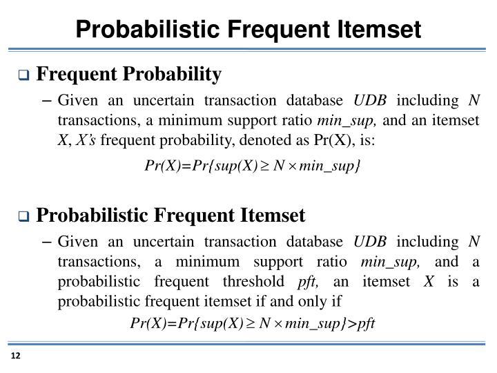 Probabilistic Frequent Itemset