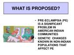 what is proposed