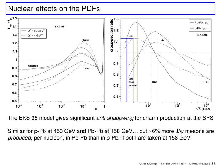 Nuclear effects on the PDFs