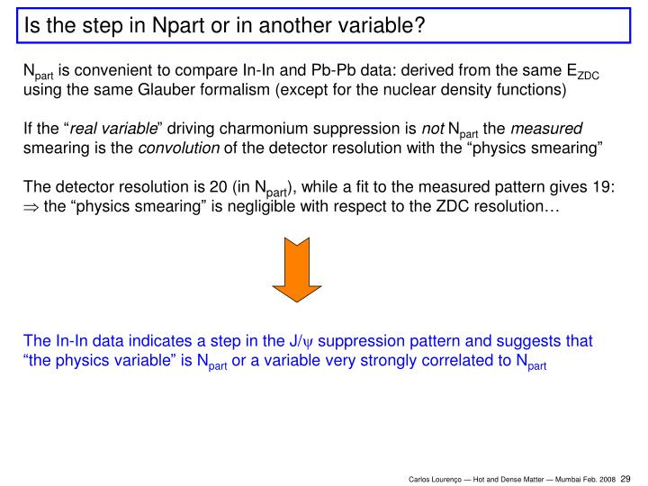 Is the step in Npart or in another variable?