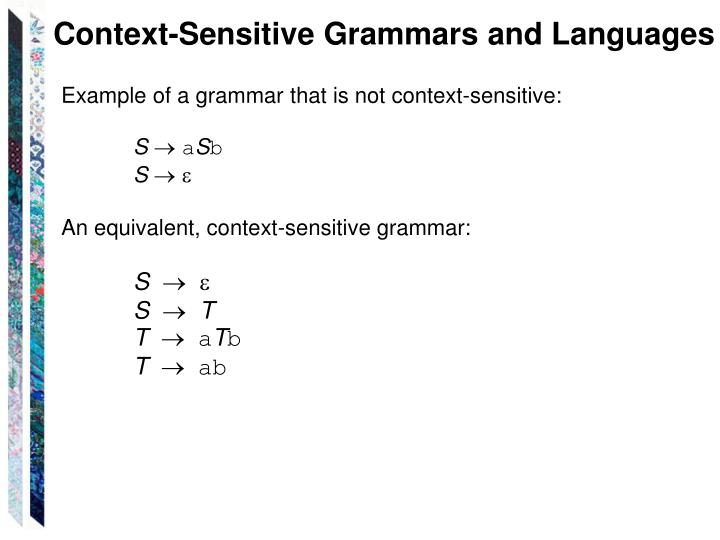 Context-Sensitive Grammars and Languages