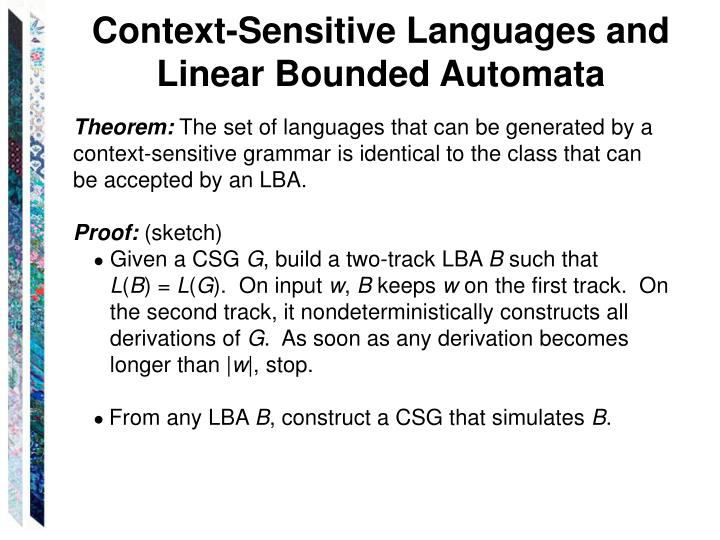 Context-Sensitive Languages and Linear Bounded Automata