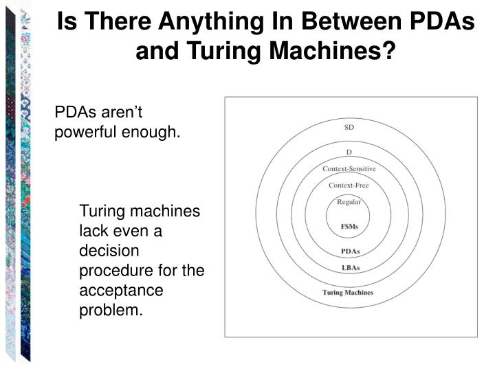 Is There Anything In Between PDAs and Turing Machines?