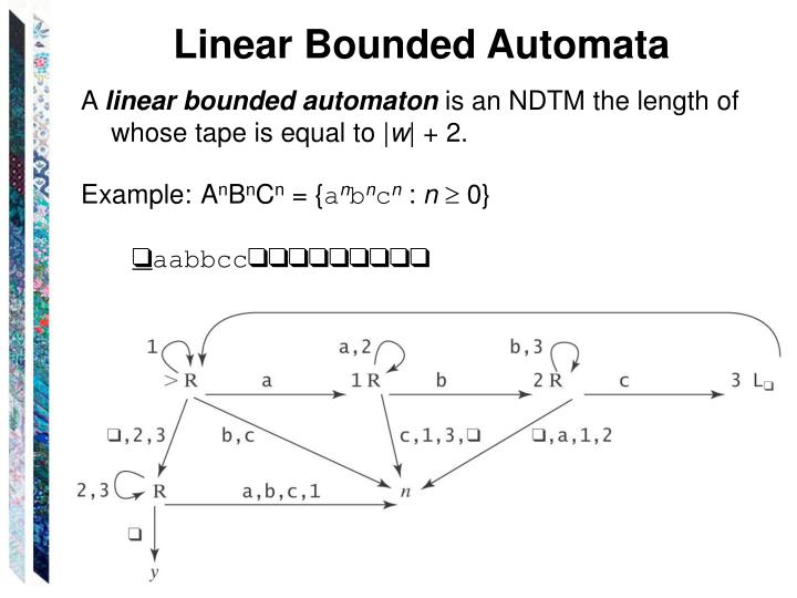 Linear Bounded Automata
