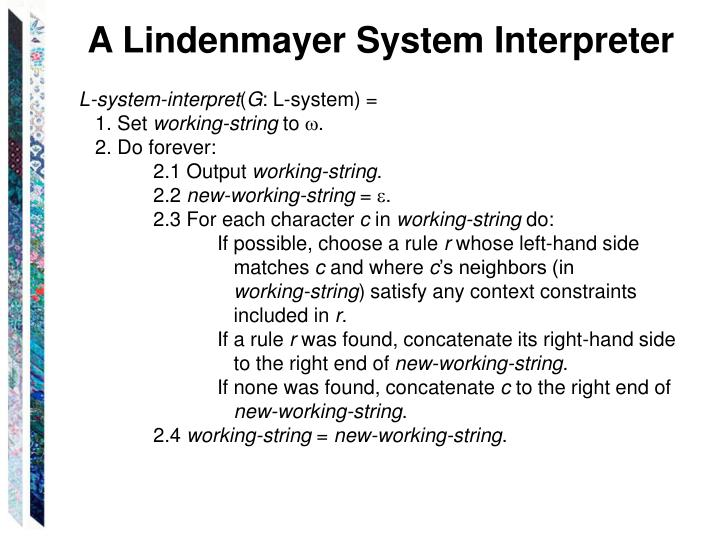 A Lindenmayer System Interpreter
