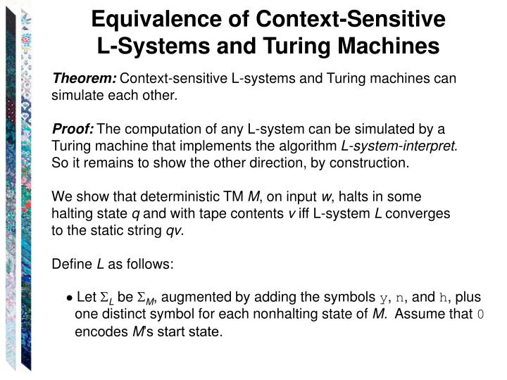 Equivalence of Context-Sensitive