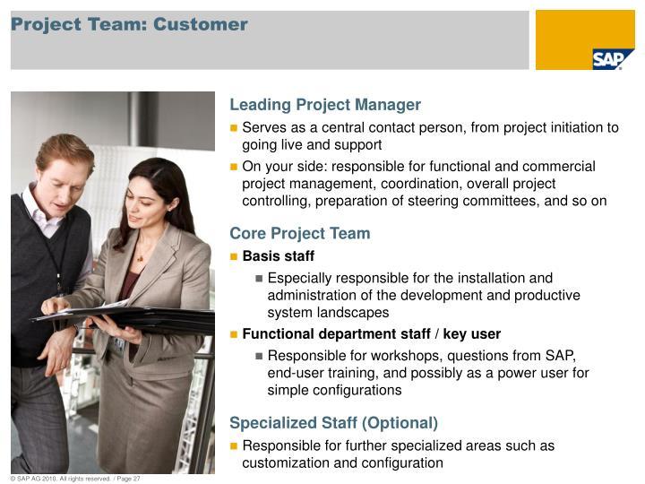 Project Team: Customer
