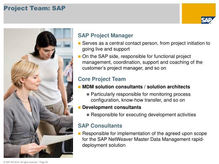 Project Team: SAP