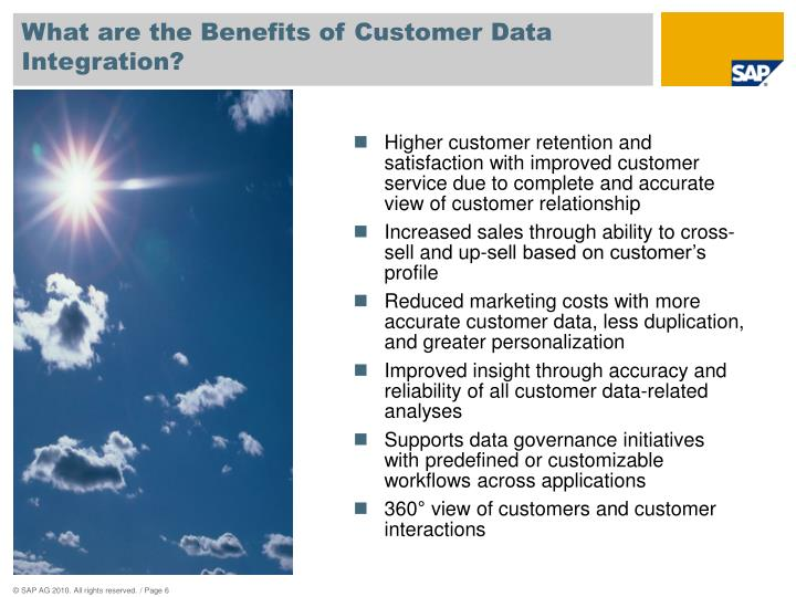 What are the Benefits of Customer Data Integration?