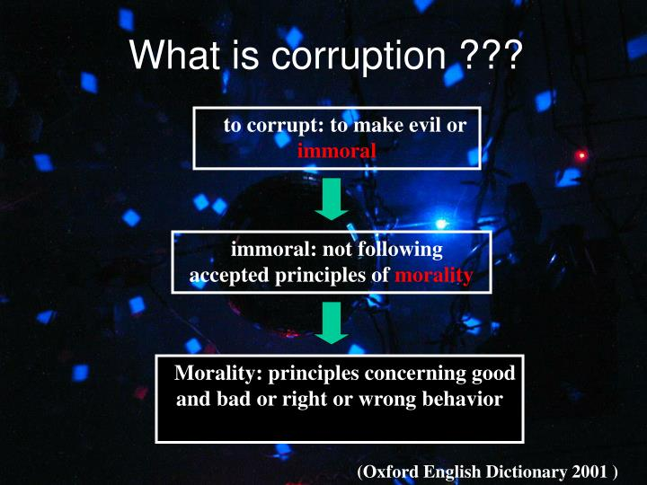 What is corruption ???