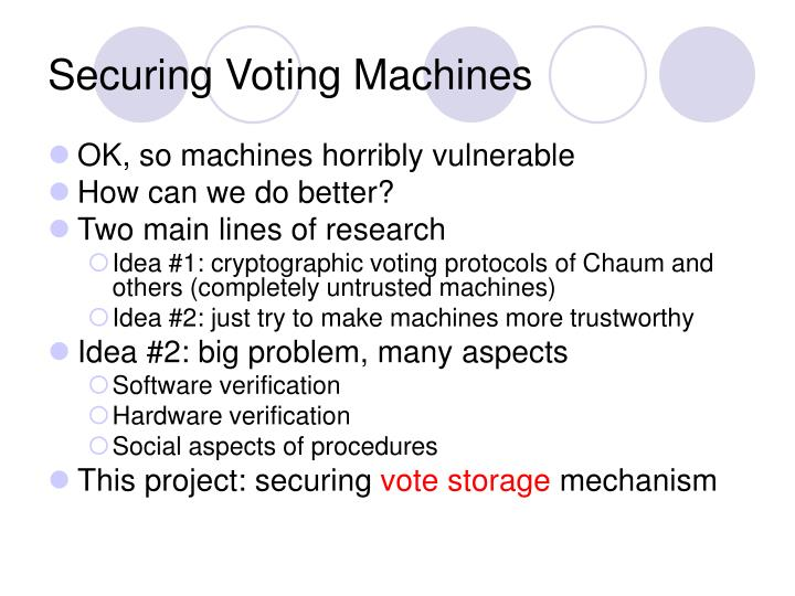 Securing Voting Machines