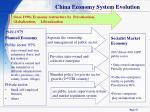 china economy system evolution