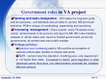government roles in va project