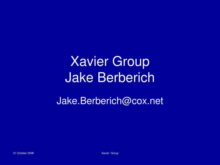 Xavier Group