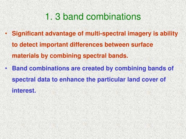 1 3 band combinations