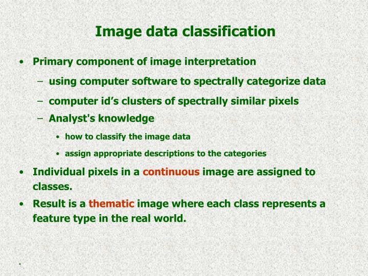 Image data classification