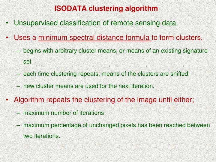 ISODATA clustering algorithm