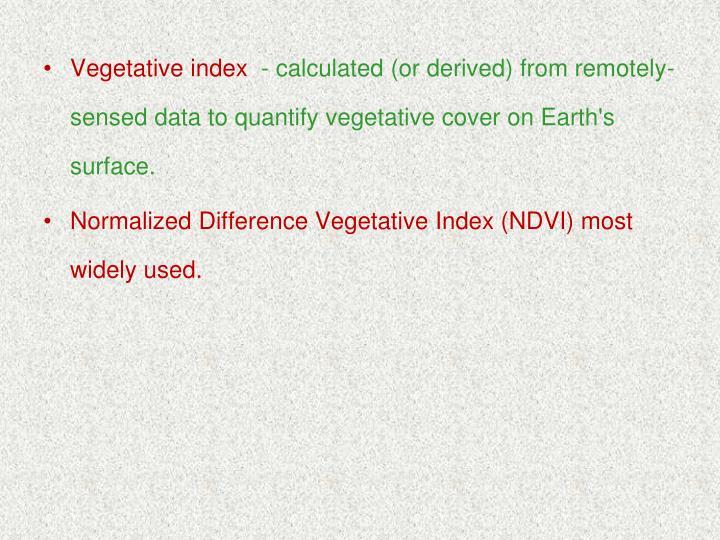 Vegetative index