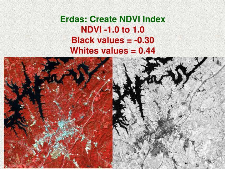 Erdas: Create NDVI Index