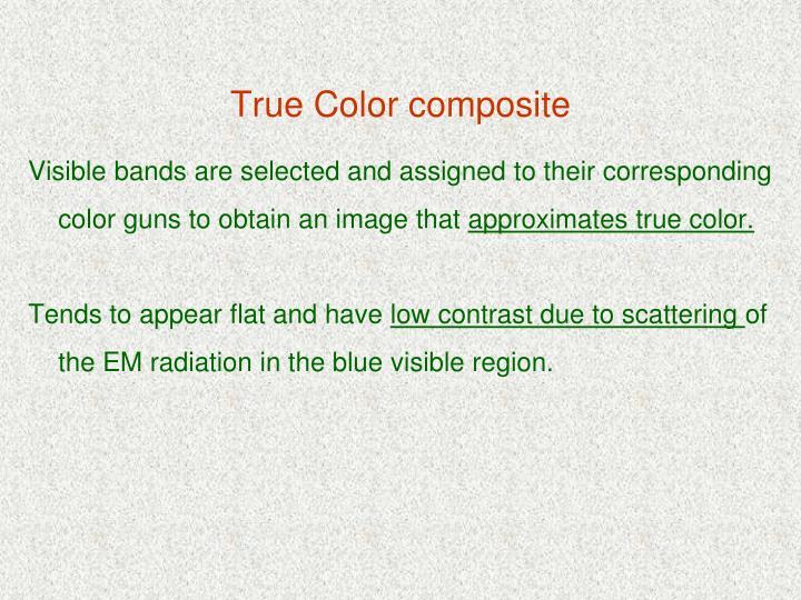 True Color composite