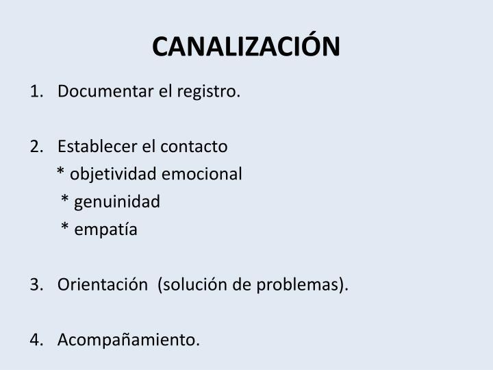 CANALIZACIÓN