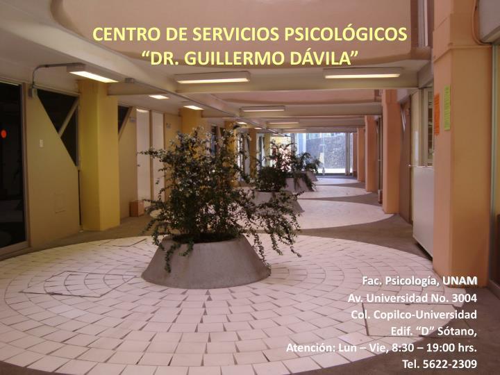 CENTRO DE SERVICIOS PSICOLÓGICOS