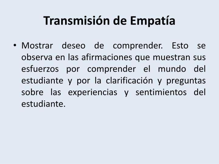Transmisión de Empatía