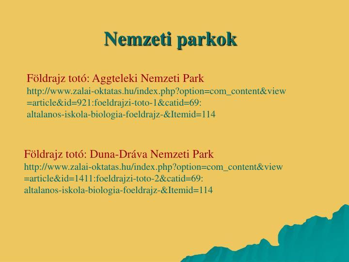 Nemzeti parkok