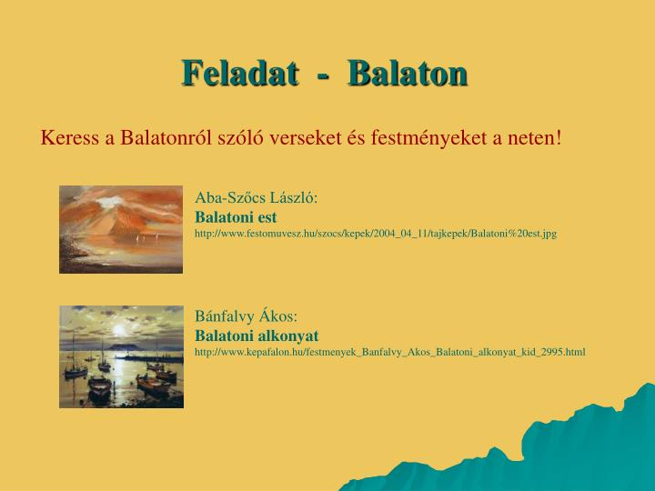 Feladat  -  Balaton