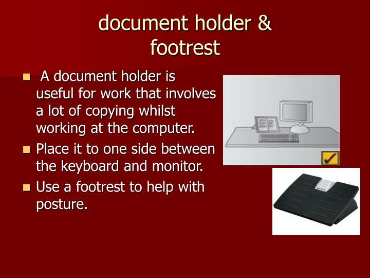document holder &