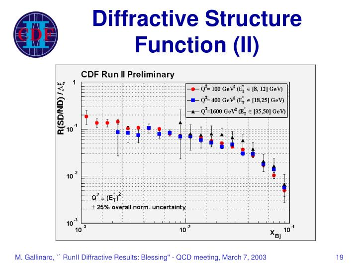 Diffractive Structure Function (II)