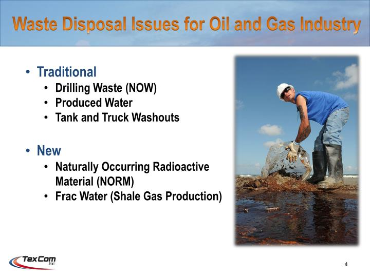Waste Disposal Issues for Oil and Gas Industry