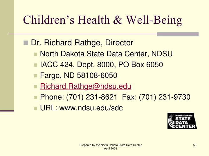 Children's Health & Well-Being