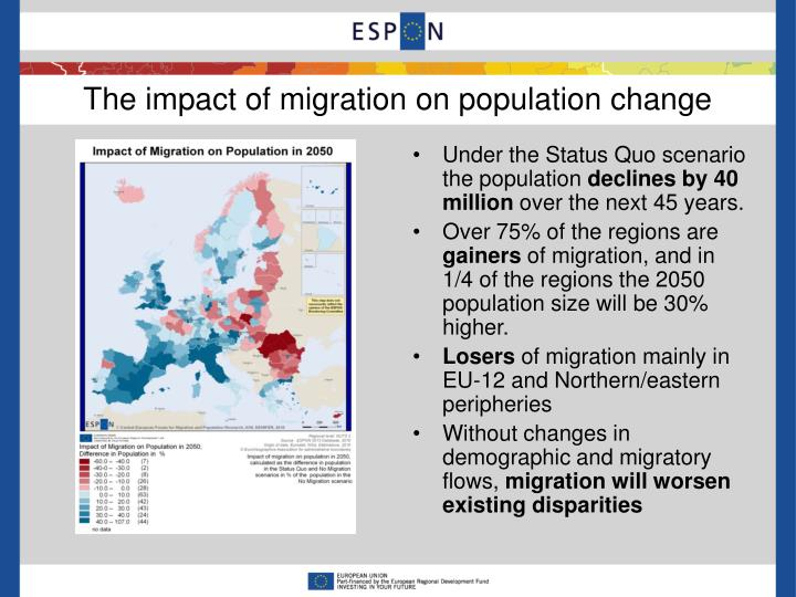 The impact of migration on population change