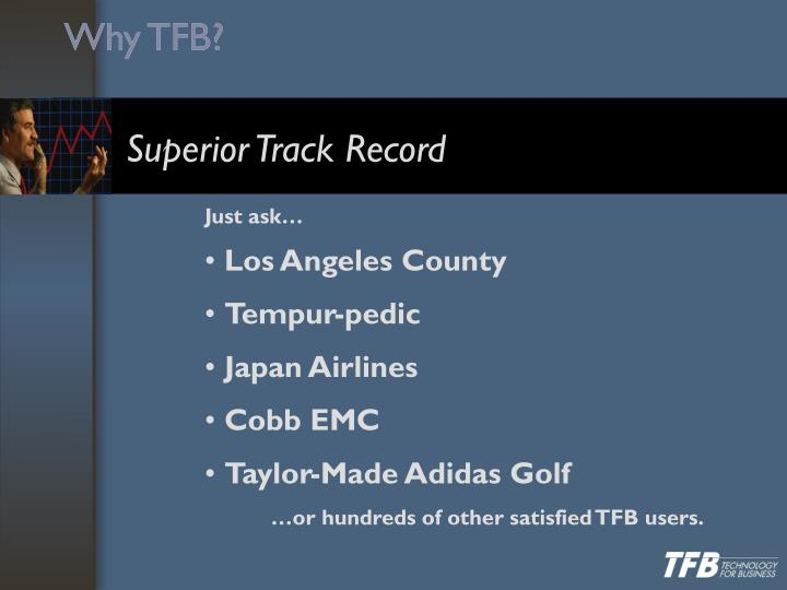 Why TFB?