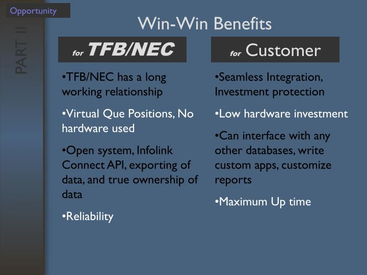Win-Win Benefits