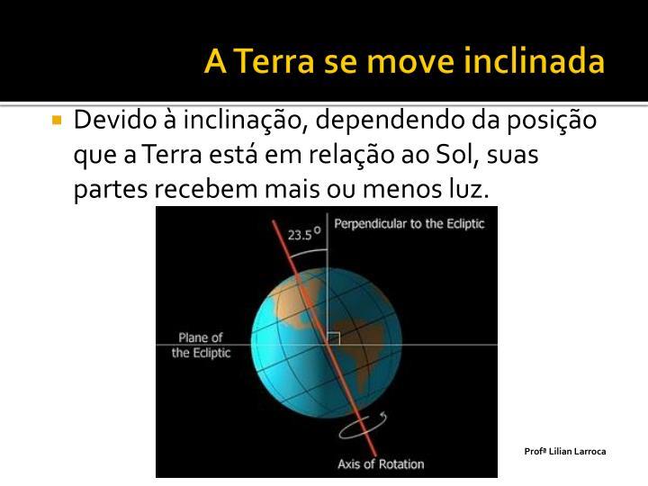A Terra se move inclinada