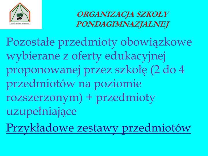 Organizacja szkoły