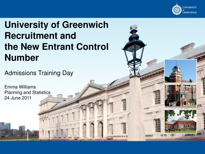 University of Greenwich Recruitment and