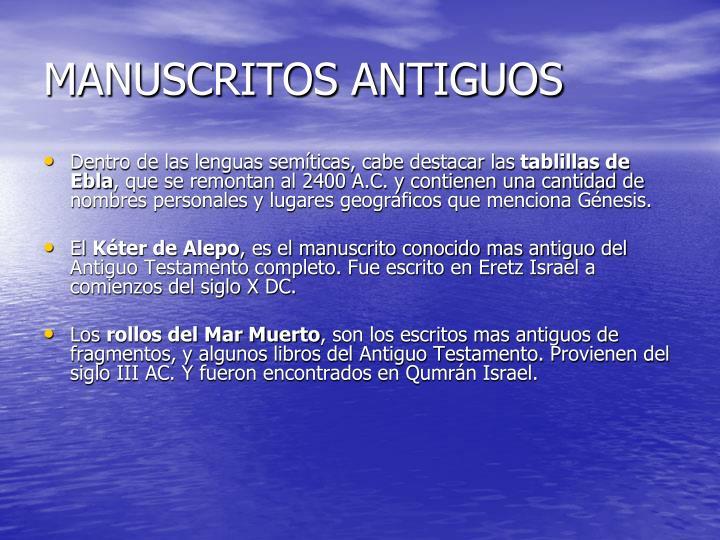MANUSCRITOS ANTIGUOS
