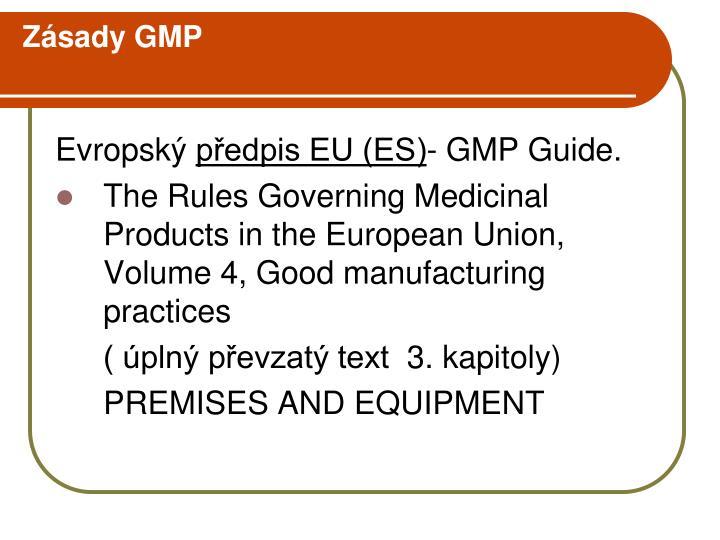 Zásady GMP