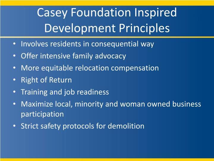 Casey Foundation Inspired Development Principles