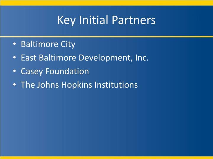 Key Initial Partners