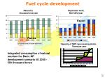 fuel cycle development