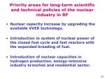 priority areas for long term scientific and technical policies of the nuclear industry in rf