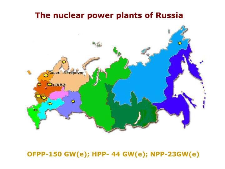 The nuclear power plants of Russia