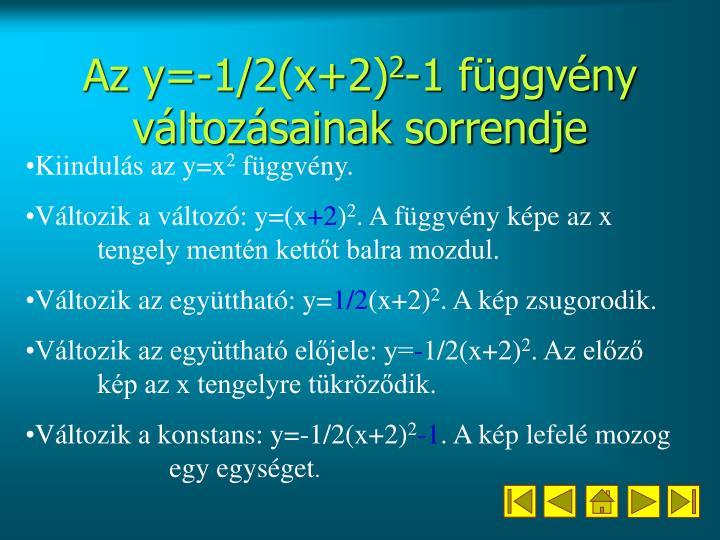 Az y=-1/2(x+2)