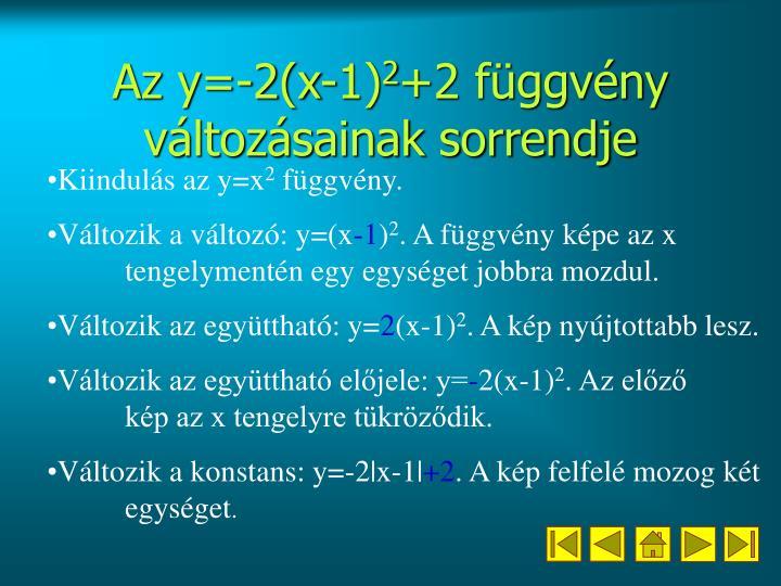 Az y=-2(x-1)